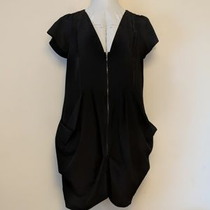 City chic black dress 1xl (16) pockets plus size